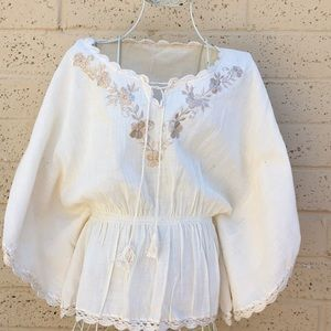 Tops - Gypsy boho peasant blouse